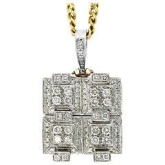 2.5 Carat Diamond Pendant/ Necklace 18 Karat Yellow Gold with Chain