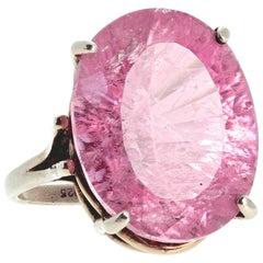 25 Carat Kunzite Sterling Silver Ring