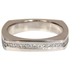 .25 Carat Natural Round Cut Diamonds Men's Band Platinum Mod Square Form