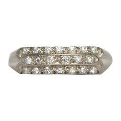 .25 Carat Total Weight Diamond White Gold Wedding Band