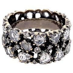 2.5 Carat 'total weight' Rose Cut Diamond Band by Nina Runsdorf