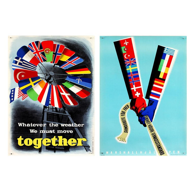 25 Original Marshall Plan Posters, a Complete Collection of the Contest Winners For Sale 2