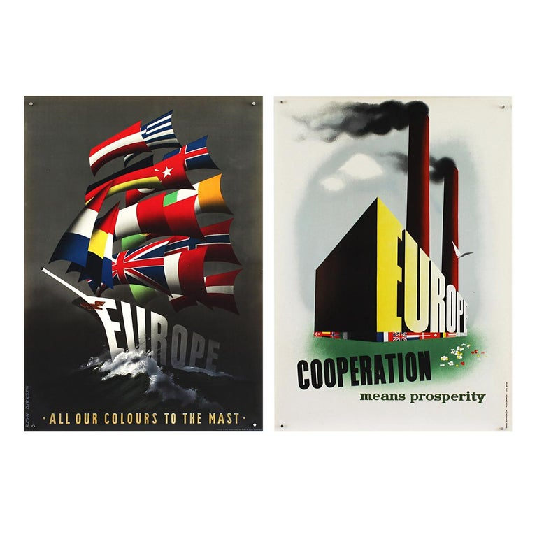 25 Original Marshall Plan Posters, a Complete Collection of the Contest Winners For Sale 8
