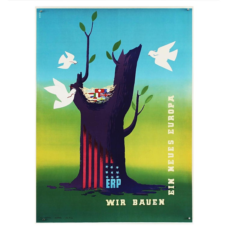 Dutch 25 Original Marshall Plan Posters, a Complete Collection of the Contest Winners For Sale
