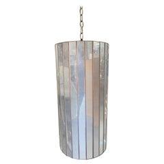 """25"""" Post Modern Copper Mirrored Cylinder Chandelier"""