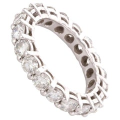 2.50 Carat Brilliant Cut White Diamond Platinum Eternity Band Ring