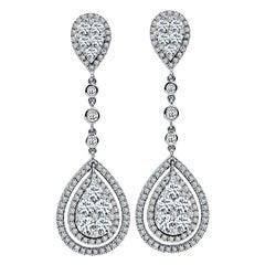 2.50 Carat Diamond Drop Earrings