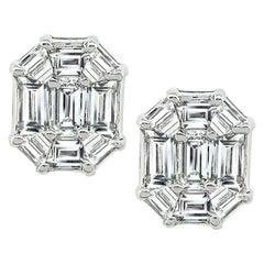 2.50 Carat Diamond Earrings