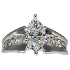 2.50 Carat Marquise VS1/G Engagement Ring 14 Karat White Gold