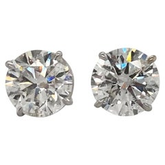 2.50 Carat Natural Diamond Earrings Studs