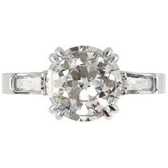 GIA Certified 1.90 Carat Round Brilliant Cut Diamond Ring VS1 G