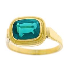 2.50 Carat Tourmaline Set Gold Ring