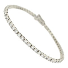 2.50 Total Carat Diamond Link Line Bracelet