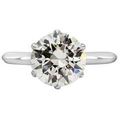 Roman Malakov 2.51 Carat Round Diamond Solitaire Engagement Ring