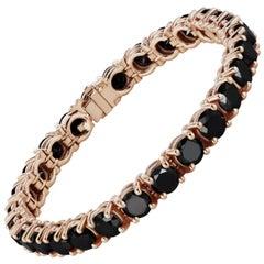 25.20 Carat Black Diamond Tennis Bracelet