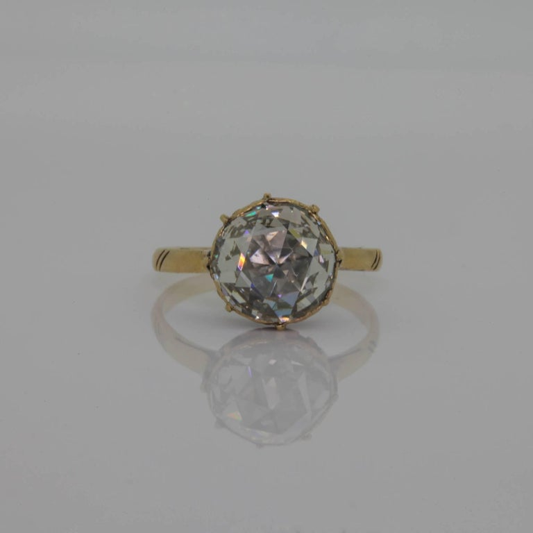 41b97d429 ... Rose Cut Diamond Engagement Ring For Sale. Wow! From the early 20th  Century, this gorgeous 18KT yellow gold ring features a