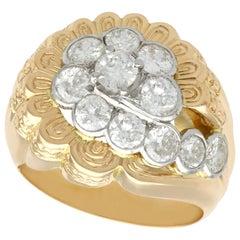 2.54 Carat Diamond Yellow Gold Cocktail Ring