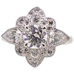 2.55 Carat Diamond Platinum Engagement Dress Ring