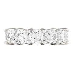 2.56 Carat Diamond 18 Karat White Gold Ring