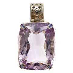 257.55 Carat Natural Brazilian Amethyst with Tanzanite Pendant Necklace