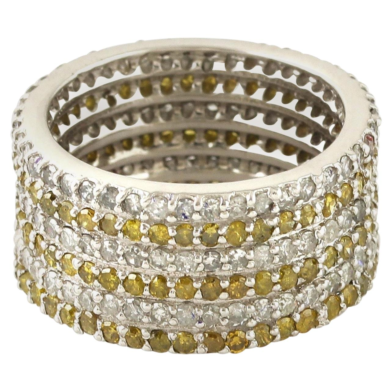 2.58 Carat Diamond 18 Karat Gold Eternity Ring