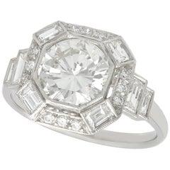 2.58 Carat Diamond and Platinum Engagement Ring