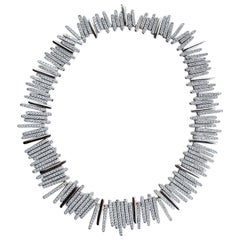 25.CT 18KW D-25.16 G-H SI1-SI2 Natural Diamond Necklace