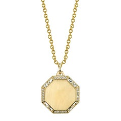 Hexagon Pendant with French Cut and Old European Cut Diamonds