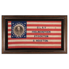 26 Star American Presidential Campaign flag of H. Clay & T. Frelinghuysen, 1844