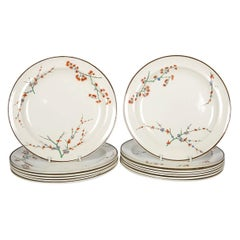 26 Wedgwood Creamware Dinner Plates with Thistle Design Made, circa 1880
