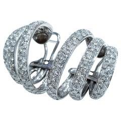 2.60 Carat Brilliant Cut Diamonds 18 Carat White Gold Earrings