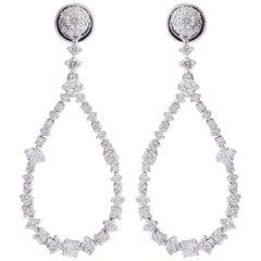 2.60 Carat Diamond 18 Karat White Gold Earrings
