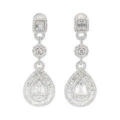 2.62 Carat Diamond Earrings
