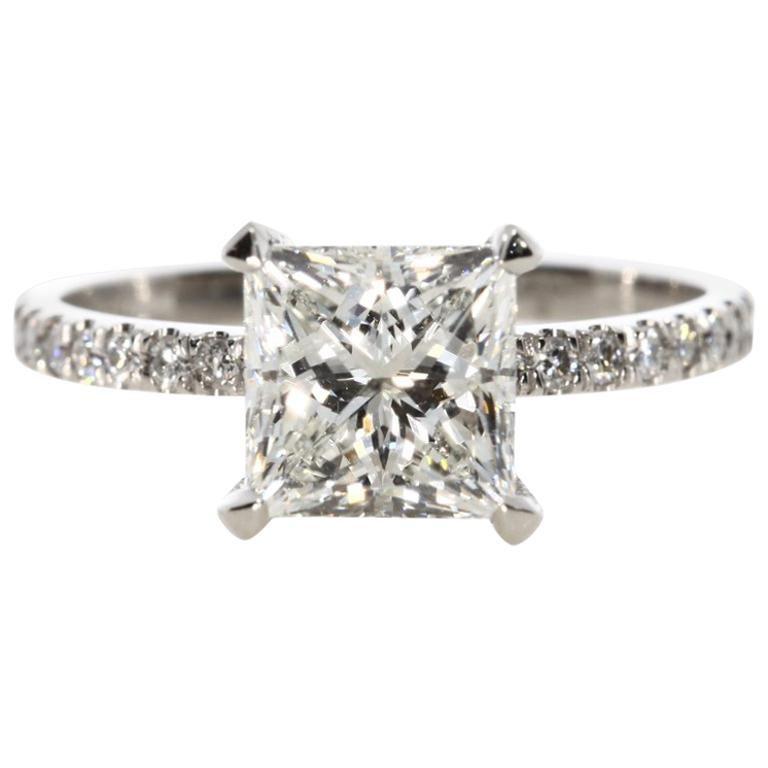 cc4f78b3500e2 2.62 Carat Princess Cut Diamond Engagement Ring