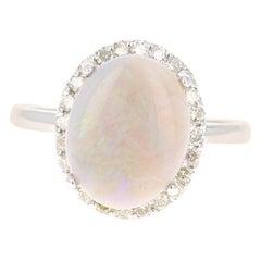 2.63 Carat Opal Diamond 14 Karat White Gold Ring