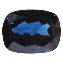 2.65 Carat Cushion Cut Blue Sapphire Loose Gemstone