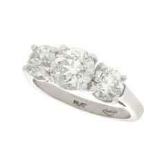 2.65 Carat Diamond and Platinum Trilogy Ring