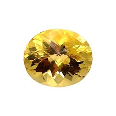 26.53 Carat Faceted Golden Chrysoberyl Oval, Unset Pendant Collector Gemstone