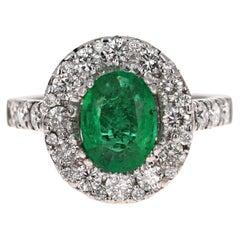 2.66 Carat Emerald Diamond 14 Karat White Gold Engagement GIA Certified Ring