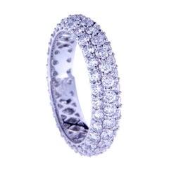2.66 Ct Diamonds 18kt White Gold Wedding Ring