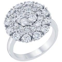 2.67 Carat Diamond Cocktail 14 Karat White Gold Ring