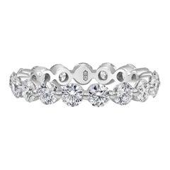 2.69 Carat Diamond Single-Prong Eternity Wedding Band