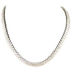 27 Carat Flexible Diamond Necklace in 18 Karat Gold
