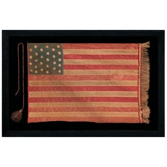 27 Star Homemade Flag with Canton Resting on the War Stripe