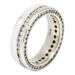 2.70 Carat 14 Karat White Gold Diamond Eternity Band Ring
