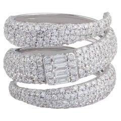 2.70 Carat Diamond 18 Karat White Gold Wrap Ring
