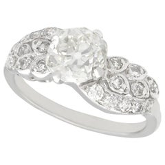 2.70 Carat Diamond White Gold Platinum Set Twist Ring