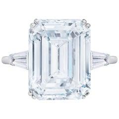 2.70 Carat Emerald Cut Diamond Ideal Cut I Color VS2 Clarity