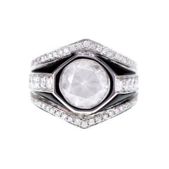 2.70 Carat Fancy White Diamond Featuring in an Art Deco Style Ring