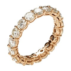 2.70 Carat Rose Gold Eternity Band Ring